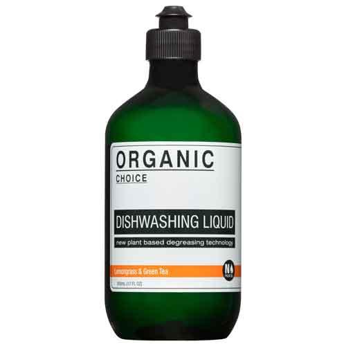 ORGANIC CHOICE ディッシュウォッシングリキッド 500ml DISHWASHING LIQUID レモングラス&グリーンティー LEMONGRASS & GREEN TEA オーガニックチョイス◆キッチン/洗剤/植物/アロマ/ギフト/プレゼント/香り/癒し/リラックス/fragrance/aroma/gift/room