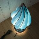 間接照明寝室ブルーねじりランプルームランプベッドサイドランプインテリアデザインランプ照明ブルーランプアイアンガラスアジアンおしゃれアンティーク風レトロオリエンタルエキゾチックデザインランプトルネ(スイッチ付)