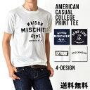 Tシャツ メンズ アメカジ カレッジ プリント 半袖 【メール便送料無...