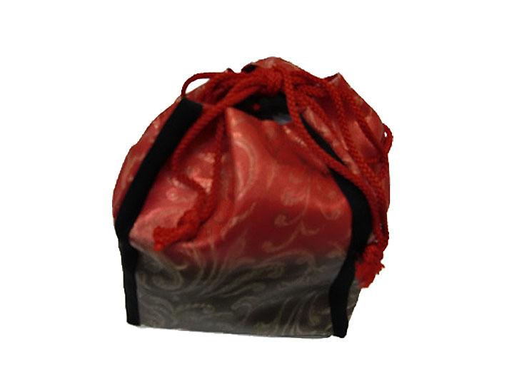 【レンタル】巾着No.11 Lilianne 卒業式 成人式 小物 巾着 赤×黒 チャイナ風 レンタル品【店頭受取対応商品】