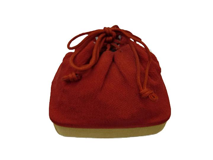 【レンタル】巾着No.12 Lilianne 卒業式 成人式 小物 巾着 赤×からし シンプル レンタル品【店頭受取対応商品】