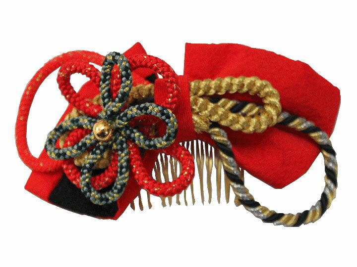 【レンタル】髪飾りNo.06 Lilianne 卒業式 成人式 小物 鮮やかな赤リボン 花 髪飾り レンタル品【店頭受取対応商品】