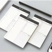1冊:さっと取り出して使える、日間予定とやることのメモ帳。デジタル断捨離向け。TODOやることリストスケジュールビジネスシンプルコンパクトメモミニ