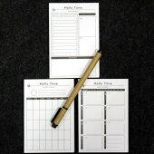 ポケットに入る小さな予定メモ。客前でもたつかないビジネス・家庭のスケジュール管理。メモスケジュール予定計画ビジネス時間管理行動予定TODO日記日誌