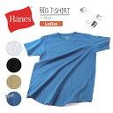【最大20%OFFクーポン対象】Hanes(ヘインズ) Tシャツ レディース Vネック ビッグTシャツ 半袖 カットソー ルームウェア ウィメンズ 無地 【メール便2枚送料無料】(hw1-m201)プレゼント ギフト 父の日