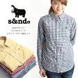 【MAX20%OFFクーポン】s&nd(セカンド)ギンガムチェック ボタンダウンシャツ BDシャツ 長袖 レディース (sd-100502)