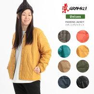 Gramicci(グラミチ)ノーカラージャケットナイロンジャケット暖か中綿レディース薄手インナーユニセックス(gujk-19f032)
