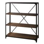 棚 ラック 陳列棚 店舗用 ショップ ディスプレイ 什器 展示 スチール 天然木 木製 棚板 ヴィンテージ ビンテージ 北欧 西海岸 おしゃれ かっこいい 存在感