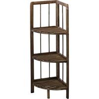 シェルフ フォールディング 折りたたみ 棚 3段 ラック 使わないときは折りたたみ収納 木製シェルフ 木製棚 コーナー