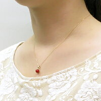 日本産血赤珊瑚6.3ミリ玉K18ペンダントトップ【3月の誕生石『珊瑚(さんご・サンゴ)』】【送料無料】【smtb-m】【対応_関東】