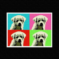【アートデリ】犬モチーフのインテリアパネル