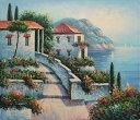 特価油絵 地中海の風景 A123