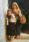 油絵 ウイリアム・ブーグローの名作「小さな物乞い」