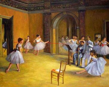 油絵 ドガの名作「オペラのダンススタジオ」