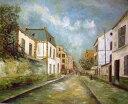 油絵 ユトリロの名作「モンルージュの通り」