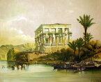 油絵 特価 ダヴィッド・ロバーツの名作「フィラエ神殿」