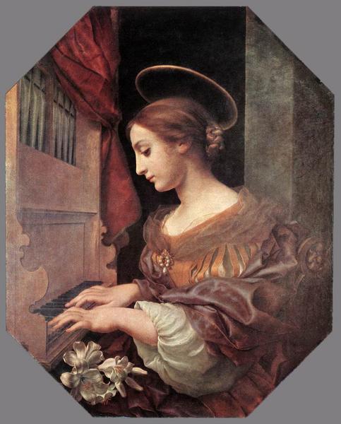 CarloDolci_オルガンを弾く聖セシリア