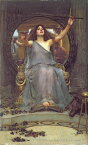 油絵 John William Waterhouse_ ユリシーズにカップを提供するキルケー