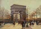 油絵 Eugene Galien-Laloue_ エトワール広場の凱旋門
