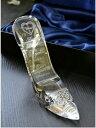 【ガラスの靴】【名入れ彫刻】【スワロフスキーデコ仕上げ】誕生日プレゼントにシンデレラのガラスの靴へ名入れ彫刻スワロフスキーデコ仕上げ
