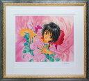 【版画】【中古】 Bloom ミックスドメディア 本人 鉛筆 サイン いのまたむつみ(Mutsumi Inomata)
