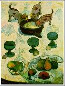 ポール・ゴーギャン「三匹の子犬のいる静物」