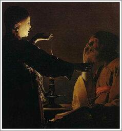 複製画 送料無料 プレミアム 学割 絵画 油彩画 油絵 複製画 模写ジョルジュ・ド・ラトゥール「聖ヨセフの夢」 F10(53.0×45.5cm)サイズ プレゼント ギフト 贈り物 名画 オーダーメイド 額付き