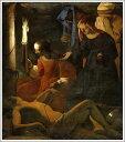 絵画販売のアート名画館で買える「複製画 送料無料 プレミアム 学割 絵画 油彩画 油絵 複製画 模写ジョルジュ・ド・ラトゥール「聖イレネに介抱される聖セバスティアヌス」 F10(53.0×45.5cmサイズ プレゼント ギフト 贈り物 名画 オーダーメイド 額付き」の画像です。価格は52,704円になります。