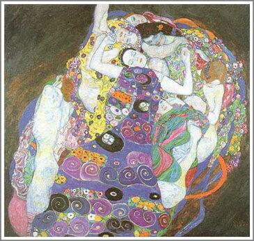 複製画 送料無料 プレミアム 学割 絵画 油彩画 油絵 複製画 模写グスタフ・クリムト「The Virgin(処女)」 F12(60.6×50.0cm)サイズ プレゼント ギフト 贈り物 名画 オーダーメイド 額付き