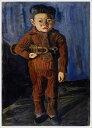 複製画 送料無料 プレミアム 学割 絵画 油彩画 油絵 複製画 模写 小出楢重「ラッパを持てる少年」 F6(41.0×31.8cm)サイズ プレゼント ギフト 贈り物 名画 オーダーメイド 額付き