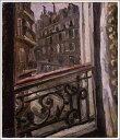 複製画 送料無料 プレミアム 学割 絵画 油彩画 油絵 複製画 模写小出楢重「パリ・ソンムラールの宿」 F12(60.6×50.0cm)サイズ プレゼント ギフト 贈り物 名画 オーダーメイド 額付き
