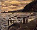 複製画 送料無料 プレミアム 学割 絵画 油彩画 油絵 複製画 模写小出楢重「海」 F12(60.6×50.0cm)サイズ プレゼント ギフト 贈り物 名画 オーダーメイド 額付き
