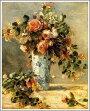 ルノアール(ルノワール)「花瓶にはいったバラとジャスミン」