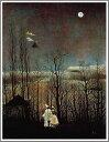 複製画 送料無料 プレミアム 学割 絵画 油彩画 油絵 複製画 模写 アンリ・ルソー「カーニバルの夕べ」 F6(41.0×31.8cm)サイズ プレゼント ギフト 贈り物 名画 オーダーメイド 額付き