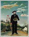 複製画 送料無料 プレミアム 学割 絵画 油彩画 油絵 複製画 模写アンリ・ルソー「私自身、肖像=風景」 F12(60.6×50.0cm)サイズ プレゼント ギフト 贈り物 名画 オーダーメイド 額付き