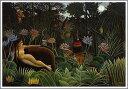 複製画 送料無料 プレミアム 学割 絵画 油彩画 油絵 複製画 模写アンリ・ルソー「夢」 F8(45.5×38.0cm) サイズ プレゼント ギフト 贈り物 名画 オーダーメイド 額付き