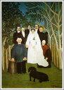 複製画 送料無料 プレミアム 学割 絵画 油彩画 油絵 複製画 模写アンリ・ルソー「婚礼」 F15(65.2×53.0cm)サイズ プレゼント ギフト 贈り物 名画 オーダーメイド 額付き