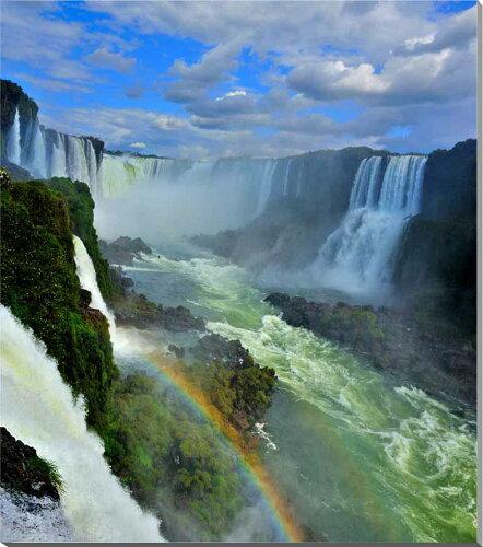 イグアスの滝に虹2 写真パネル 72.7×60.6cm IGA-02-F20