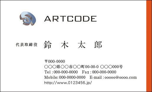 カラービジネス名刺 印刷 作成【100枚】オリジナルロゴ入れ可 シンプルなビジネス向け名刺 business010