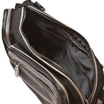 アルテミスクラシックのバイカラーBOXバッグ【ブランド、ボディーバック、ショルダーバック、羽根、翼、グレー、黒、カジュアル、オシャレ、かっこいい、メンズ、プレゼント、ギフト】