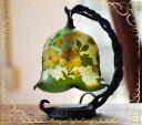 【新築祝いや開店祝いに】月見草のグリーンが綺麗なテーブルランプ。名入れ無料(プレゼントに...