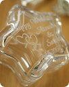【名入れ】ガラスケース(ツインハート柄)星型 【小物入れ ジュエリーボックス 指輪 リング 収納 ガラス 贈り物 記念品 ギフト プレゼント おすすめ おしゃれ かわいい 女性 友達 友人 結婚祝い 内祝い 引出物 婚約祝い 結婚記念 誕生日】 2