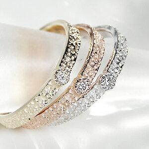 ◆【ピンキー対応】K10WG/YG/PGアンティークダイヤモンドリング