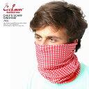 COOKMAN クックマン CHEF'S SCARF GINGHAM -RED- メンズ スカーフ フェイスマスク ネックウォーマー ヘッドバンド 3ウェイ ストリート おしゃれ かっ