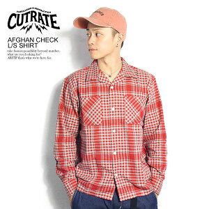 CUTRATE カットレイト AFGHAN CHECK L/S SHIRT cutrate メンズ シャツ オープンカラー 開襟 チェック 長袖 送料無料 おしゃれ 大きいサイズ トップス 秋 秋服 秋物 ストリート