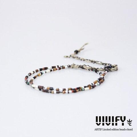 VIVIFY(ビビファイ)ARTIF別注 Fine Varied Beads Cord【メンズ ネックレス ストーン、シェル、メタルビーズ、ウッドビーズ】 ストリート系 ファッション ストリート 05P05Dec15