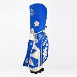 GolfSweety桜デニムキャスター付きキャディバッグ(ブルー)
