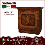 【送料無料】イタリア家具 サルタレッリ アマルフィ ナイトテーブル 2段2Dチェスト高級鏡面家具