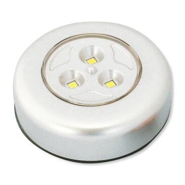 プッシュ LEDライト 3灯式 LED 電池付 【 照明 工作用 光源 】