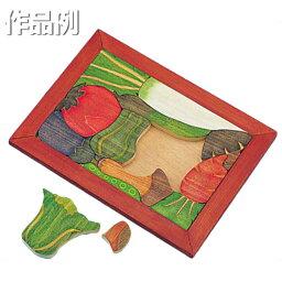 [ メール便可 ] 木彫パズル フレーム付き KF 桂材 【 木工 パズル 木 手作り 】